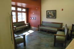 Waiting room with large picture windows