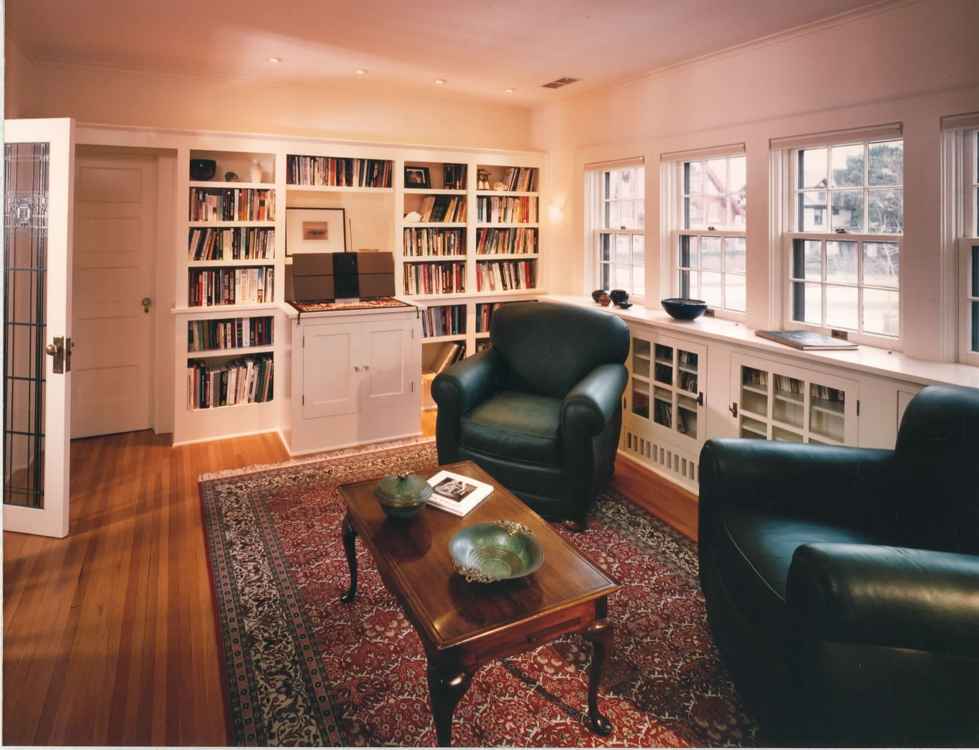 Library and living area