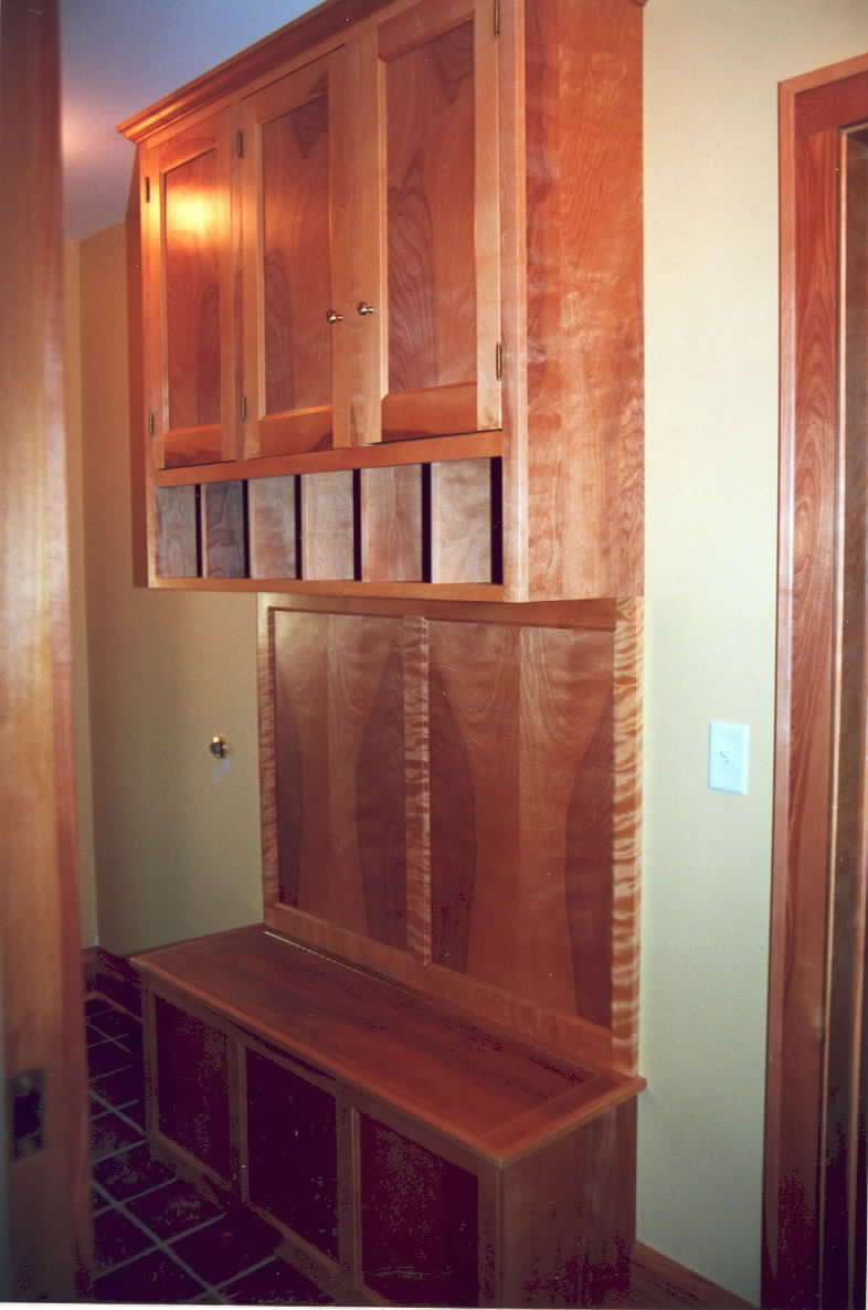 Hall bench and storage unit