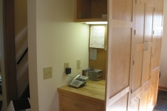Phone and storage cubby