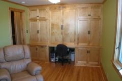 Custom-designed desk and storage cabinets