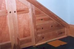Custom storage under stairs
