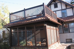 Porch and deck built by Whole Builders