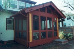 Enclosed porch built by Whole Builders